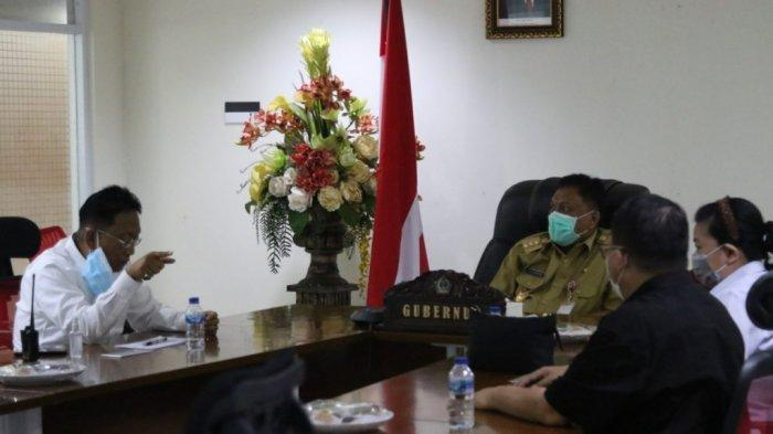 Gubernur Olly Beber Kondisi Sulut ke Jokowi, Rapat Virtual Bahas Vaksinasi Covid 19