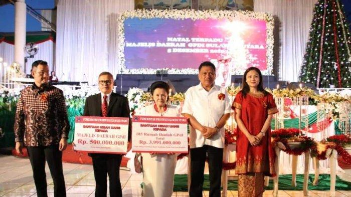 Gubernur Olly Bersama Mensos Batubara Hadiri Pra-Natal GPdI, Kucur Bantuan Rp 4,5 Miliar