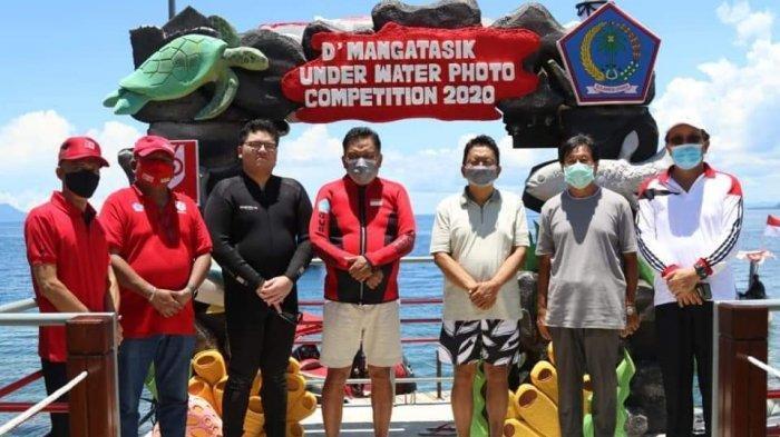 Gubernur Olly Dondokambey Buka Mangatasik Underwatter Photo Competition, Sempatkan Snorkeling