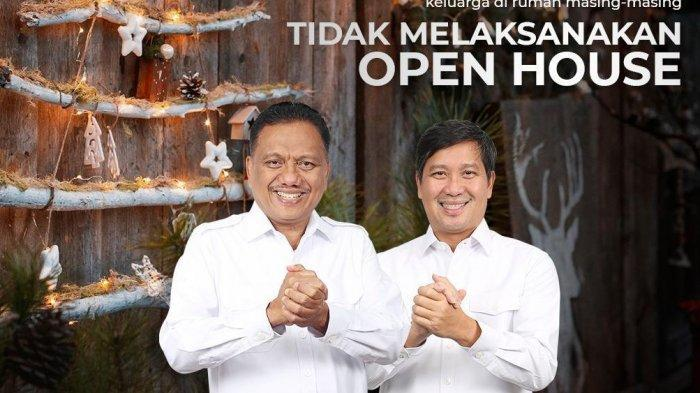 Gubernur Olly Dondokambey dan Wagub Steven Kandouw Tak Gelar Open House Natal dan Tahun Baru 2021