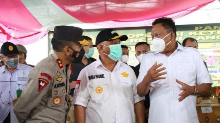 Gubernur Olly Dondokambey Ketemu Rusli Habibie di Perbatasan Sulut-Gorontalo