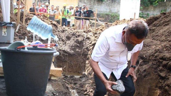 Gubernur Olly Letakkan Batu Pertama Gedung Fakultas Seni dan Ilmu Sosial Keagamaan IAKN Manado
