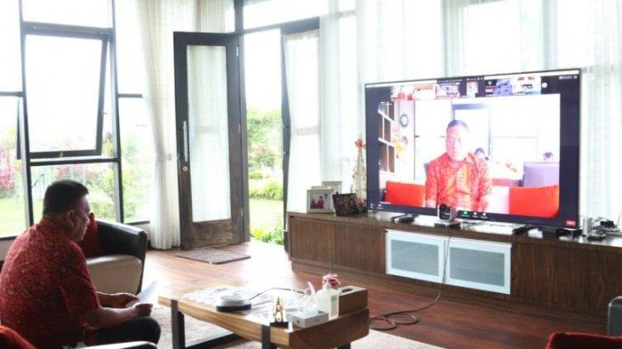 Gubernur Sulawesi Utara Olly Dondokambey mengikuti Entry Meeting Pemeriksaan Interim (pendahuluan), Laporan Keuangan Pemerintah Daerah (LKPD) Provinsi Sulut Tahun Anggaran 2020.