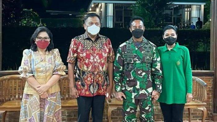 Gubernur Sulut Olly Dondokambey dan Wakil Gubernur Sulawesi Utara (Sulut) Steven Kandouw menyambut kedatangan Kepala Staf Angkatan Darat (Kasad) Jenderal TNI Andika Perkasa.