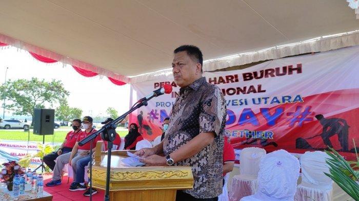Mayday di Manado, Olly Dondokambey Sebut Kesuksesan Program Jaminan Sosial bagi Buruh