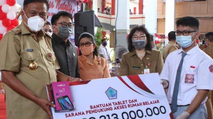 Gubernur Sulut Olly Dondokambey Kucur Rp 28,3 Miliar, Bantuan Gadget untuk Siswa Kurang Mampu