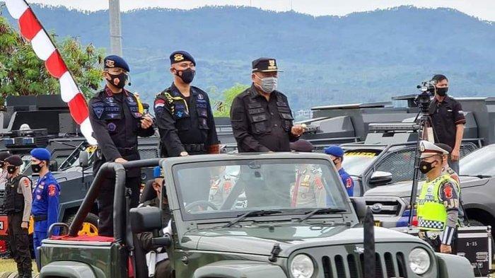 Gubernur Olly Dondokambey Pimpin Apel Gelar Pasukan Pengamanan Natal dan Tahun Baru