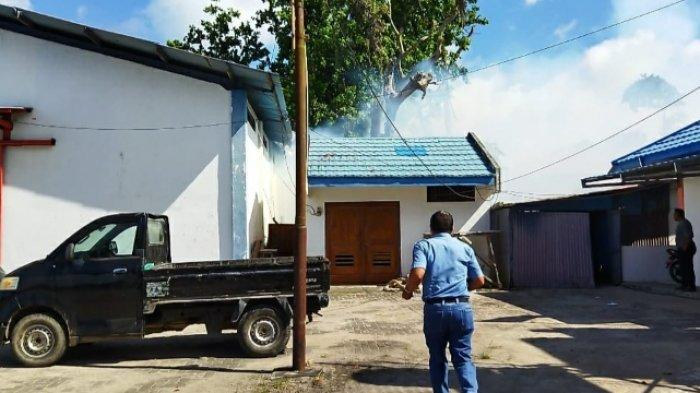 Gudang Milik Otoritas Pelabuhan Melonguane Nyaris Ludes Terbakar