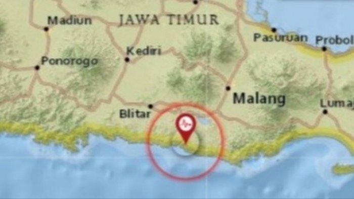 Guncangan gempa kembali mengguncang wilayah Jawa Timur, Rabu 23 2021 sore.