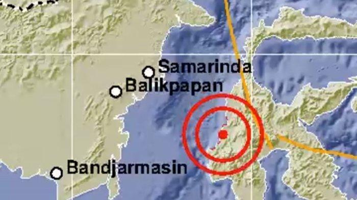 Guncangan gempa magnitudo 5,4 SR mengguncang Mamuju Tengah, Sulawesi Barat.