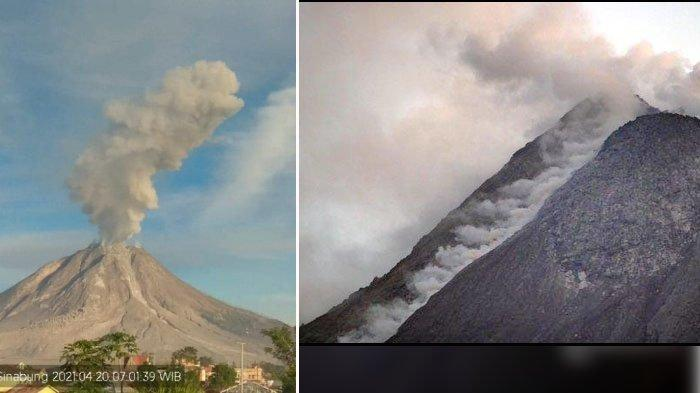 Gunung Sinabung Erupsi Ketiga Kalinya, Terbesar Dalam Sepekan, Muntah Awan Panas Tinggi 3.000 Meter