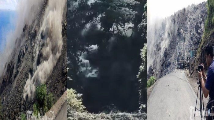 VIDEO Gunung Karangetang Erupsi - Guguran Lava Setinggi 50 Meter Tutupi Jalan, Ujung Lelehan ke Laut