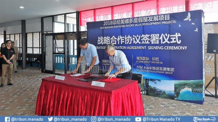Dukung Pariwisata Sulut, Guolong Technology dan PT Star BrightBakal Bangun 150 Vila