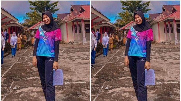 Guru Cantik Sitti Anggun Tontoli Sambut Tahun Ajaran Baru dengan Gembira