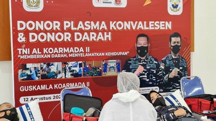 Guskamla Koarmada II Gelar Donor Plasma Konvalesen