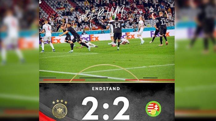 SKOR 2-2, Hasil Akhir Pertandingan Jerman VS Hungaria, Ini Nama-nama Pemain Pencetak Gol