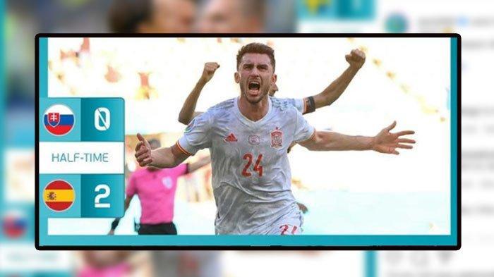 SKOR Babak Pertama Slovakia VS Spanyol, Gol Pembuka Own Gol dari Martin Dubravka