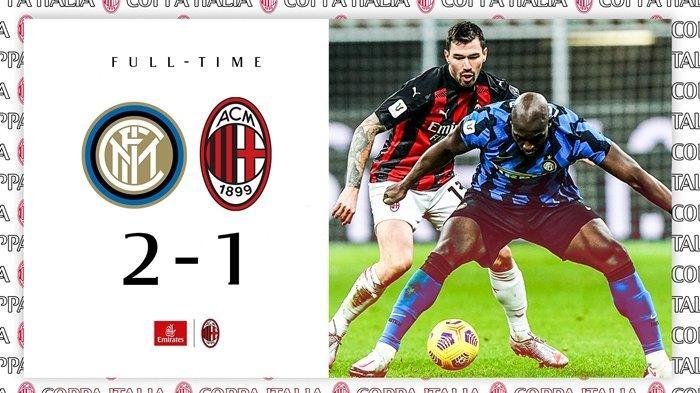Hasil Coppa Italia Inter Milan vs AC Milan.