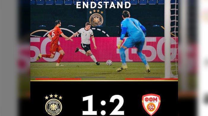 SKOR Jerman VS Makedonia Utara, Pemegang 4 Titel Juara Dunia Kalah Dari Tim Peringkat ke 65 FIFA