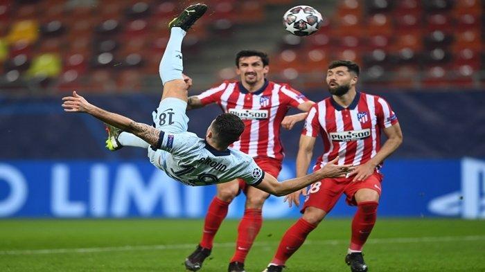 HASIL Liga Champions Atletico Madrid vs Chelsea, Oliver Giroud Jadi Pahlawan, Cetak Gol Spektakuler