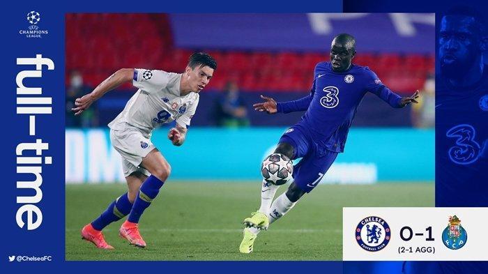 HASIL Liga Champions Chelsea vs Porto: Kalah dari Tim Tamu, The Blues Tetap Lolos ke Semifinal