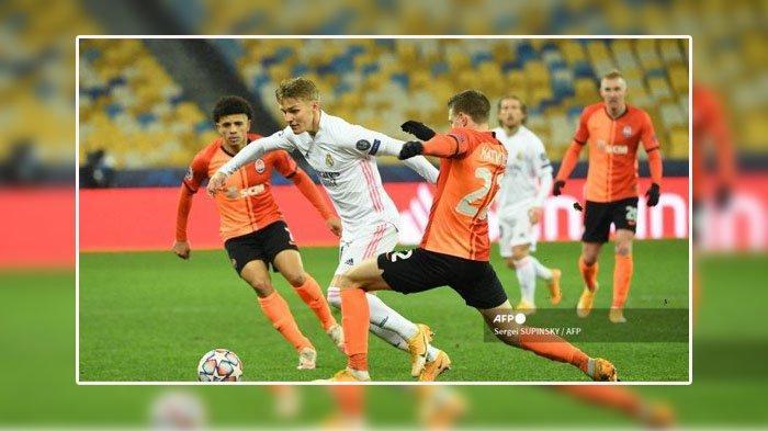 SKOR Shakhtar Donetsk VS Real Madrid, Liga Champions Rabu 2 Desember 2020
