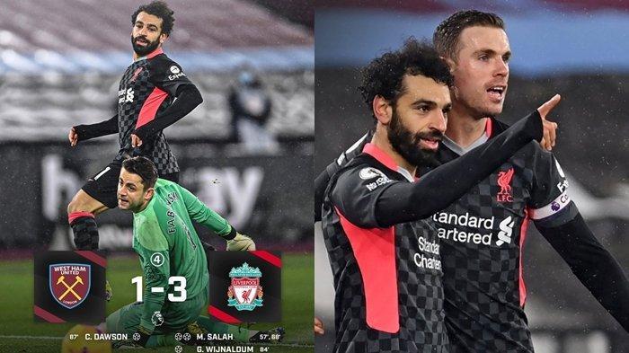 Kalahkan West Ham United dengan Skor 3-1, Liverpool Kembali Dekati Setan Merah, Kebangkitan The Reds