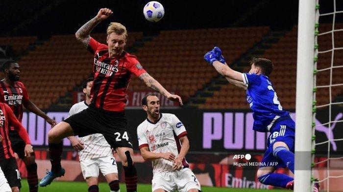 Hasil AC Milan vs Cagliari: Rossoneri Tertahan di Urutan Tiga dengan 76 Poin, Terus Dipepet Juventus