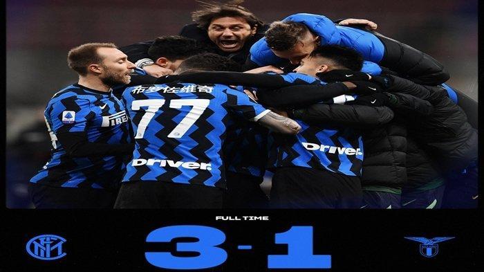 Hasil Liga Italia Inter Milan vs Lazio.