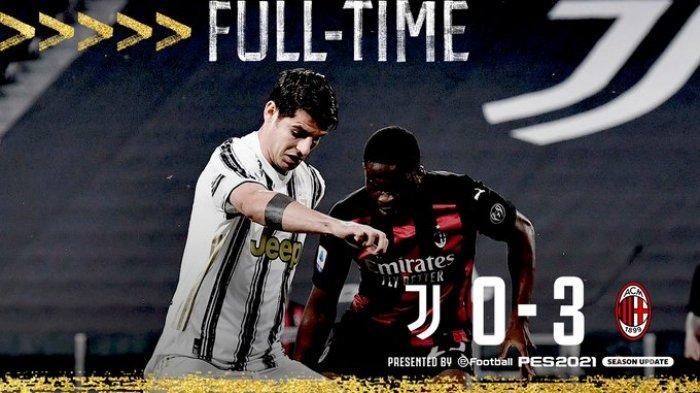 HASIL Liga Italia, Juventus Terancam Tak Lolos Liga Champions, Dipermalukan AC Milan