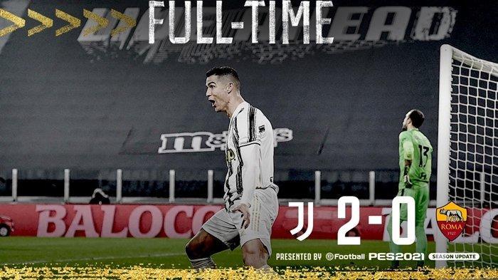 Hasil Liga Italia Juventus vs AS Roma.