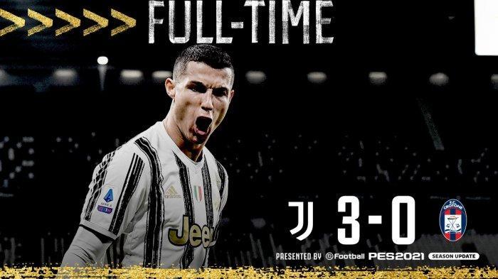 Hasil Liga Italia Juventus vs Crotone, Bianconeri Buntuti Inter Milan dan AC Milan, Ronaldo Top Skor