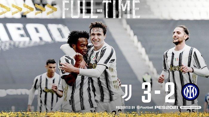 Juventus Kalahkan Juara Liga Italia, Cristiano Ronaldo dan Cuadrado Cetak Gol ke Gawang Inter Milan