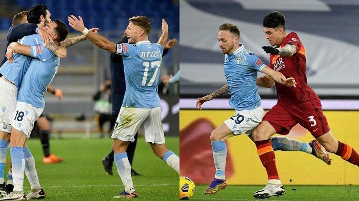 Hasil Lazio vs AS Roma, Si Elang Bantai Serigala Ibukota, Immobile Cetak Gol, Luis Alberto Brace