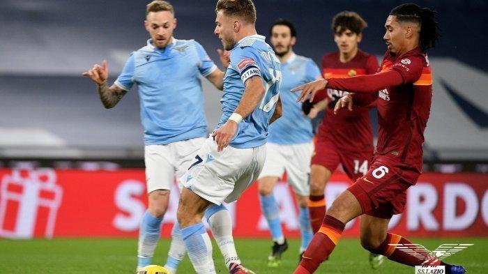 Hasil Liga Italia Lazio vs AS Roma.
