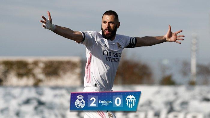 HASIL Liga Spanyol Real Madrid vs Valencia, Benzema dan Kroos Cetak Gol, Carvajal Jadi Tumbal