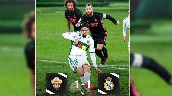 SKOR Elche VS Real Madrid, Liga Spanyol Kamis 31 Desember 2020, Zidane Ungkap Alasan Gagal Menang