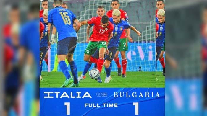 Hasil pertandingan Italia VS Bulgaria