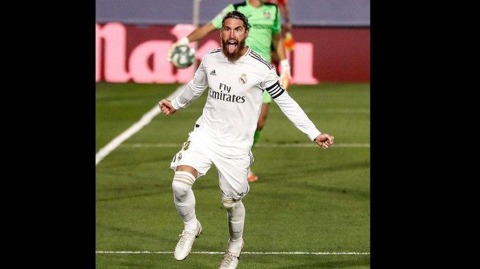 Hasil Pertandingan Real Madrid vs Getafe, Sergio Ramos Bawa Los Blancos Menjauh dari Barcelona