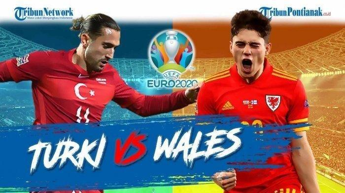 SKOR Babak Pertama Turki VS Wales, Grup A Euro 2020, Ini Nama Pencetak Gol