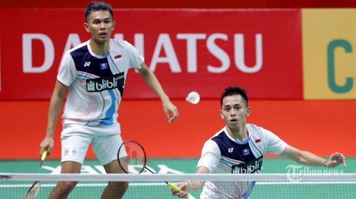 Hasil Piala Thomas 2021 - Fajar/Rian Kalah Dramatis, Indonesia Taiwan Imbang 1-1