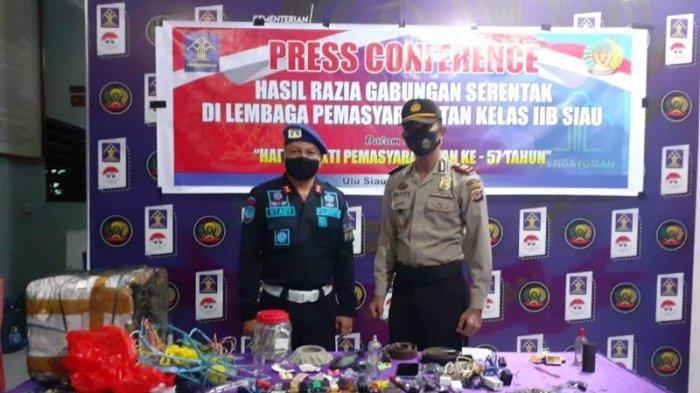 Polisi dan Petugas Lapas Siau Geledah Kamar Warga Binaan Pemasyarakatan, Ini Hasil Temuannya