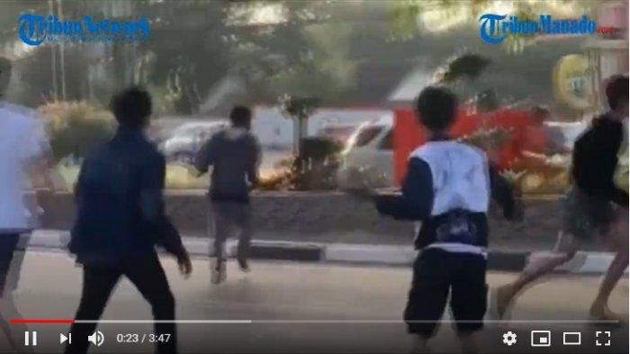 VIDEO Heboh Aksi Warga Kejar Maling Bawa Sajam