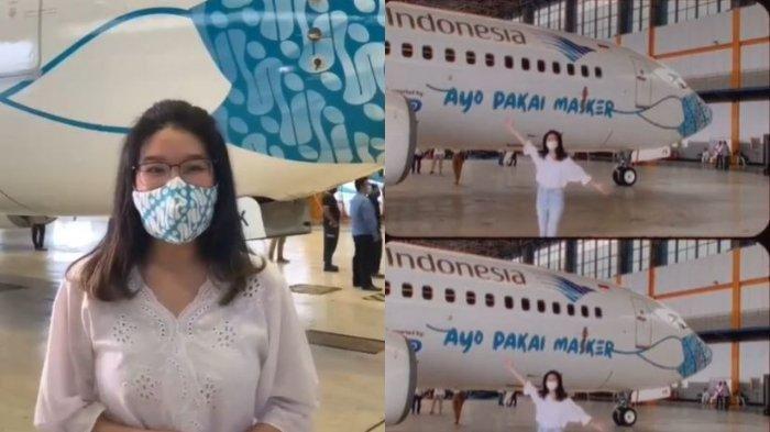 Ini Sosok di Balik Gambar Moncong Pesawat Garuda Bermasker, Masih Berusia 19 Tahun