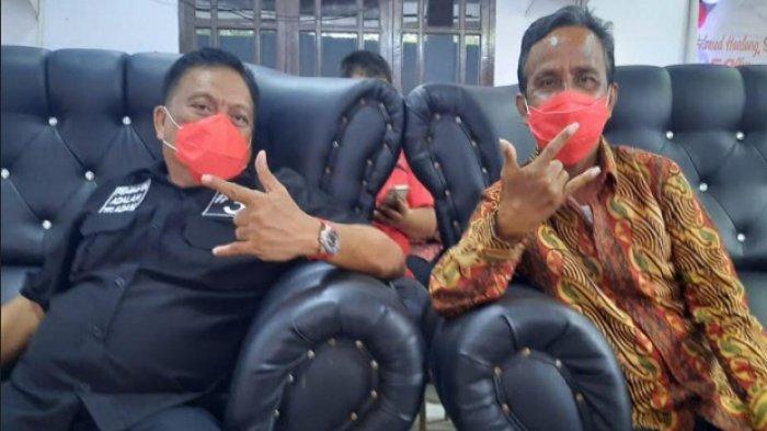 Gubernur Sulut Olly Dondokambey bersama Wakil Bupati Kepulauan Sangihe Helmud Hontong