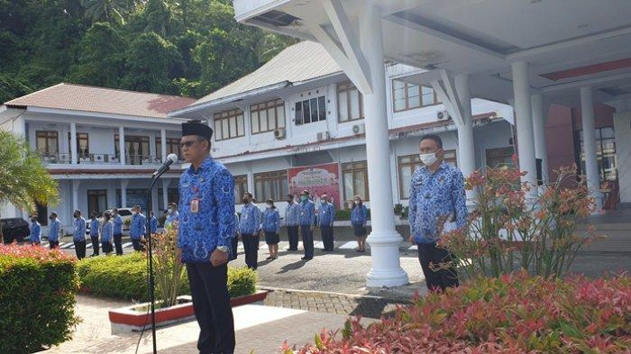 Tanpa Keterangan di Apel Perdana, 36 ASN Sitaro Bersiap Menerima Sanksi Ini