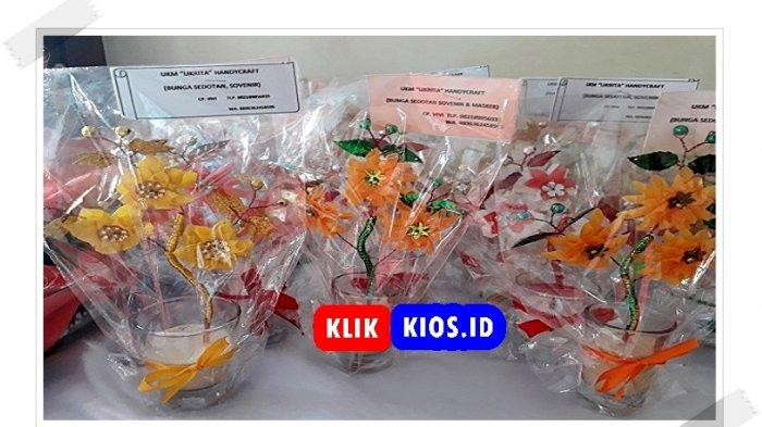 Belanja Yuk! Ada Hiasan Bunga dari Sedotan di Kios UMKM Sulut