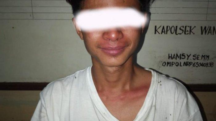 Pemuda Ini Ditangkap Polsek Wanea Karena Hirup Lem