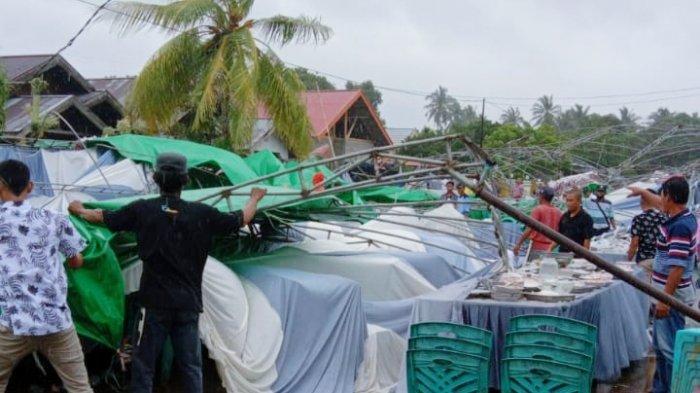 Angin Kencang di Desa Vahuta, Wabup Bolmut Hampir Nyaris Tertimpa Tenda