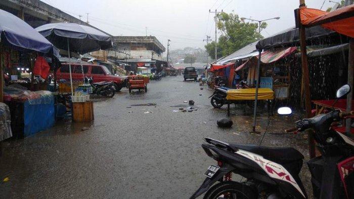 Manado Dilanda Hujan Deras, BMKG Peringatkan Waspada Diperkirakan Hingga Pukul 15.40 Wita